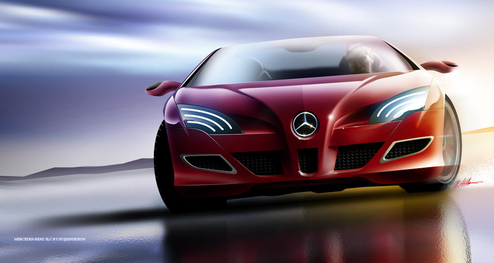 Mercedes-Benz SLC front view by husseindesign
