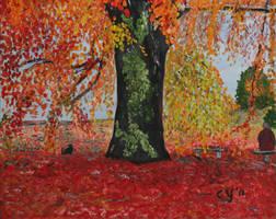 Old Tree in Oil by CarolynYM