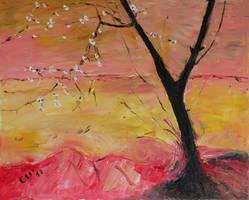 Tree Against Colors by CarolynYM