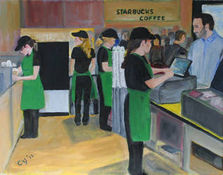 The Starbucks' Ladies by CarolynYM