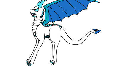 Icea's ice dragon by Legend-series