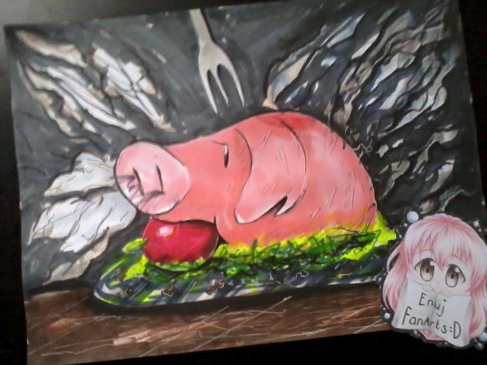 Hawk chan Pork chan by JuneFanarts