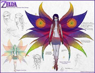 TLOZ: Majoras Mask II (Great Fairy Boss) by Verde13