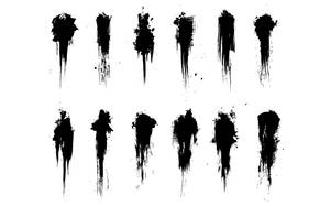 Strokes and Splatter brush set by b3388447