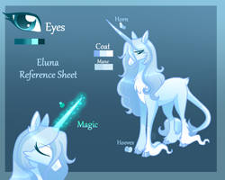 Eluna - Reference Sheet by SugaryIceCreamMlp