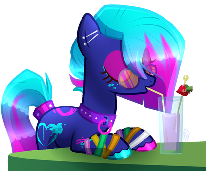 MLP Commission - Midnight Lights by SugaryIceCreamMlp