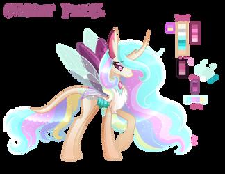 Sunset Petal - King Thorax x Celestia Mlp Adopt by SugaryIceCreamMlp