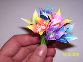 Miniature Origami Bouquet by lucky-m3