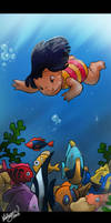 Underwater Lilo by chocolatecherry