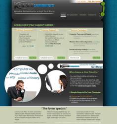 Kingdom Computers web-design by LH310