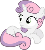 Sitting Sweetie Belle vector by rhubarb-leaf