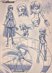 Batsu Jump Sketch concept by shinpillan