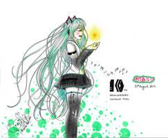 Hatsune Miku 10th Anniversary by KarimeNami