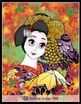 Autumn Maiko by Qiu-Ling