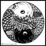 Koi Yin Yang by Qiu-Ling