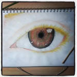 - Frederic's eye// Attempt at semi-realism - by tatty1907