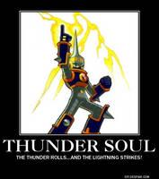 MegaMan Thunder Soul Poster by eeeeeeeyyyyyy