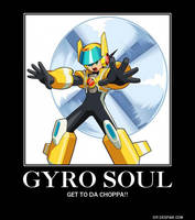 MegaMan Gyro Soul Poster by eeeeeeeyyyyyy