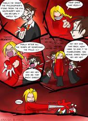 Ed Elric vs Harry Potter by shinga