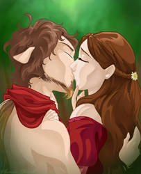 Narnia - Lucy and Tumnus by shinga