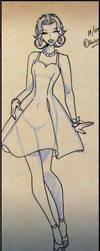 Boceto Vestido Pinup by quinqui
