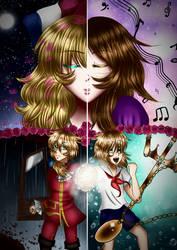 Redraw Asma and Noa/Umi (love of goddess) by Asma-chan