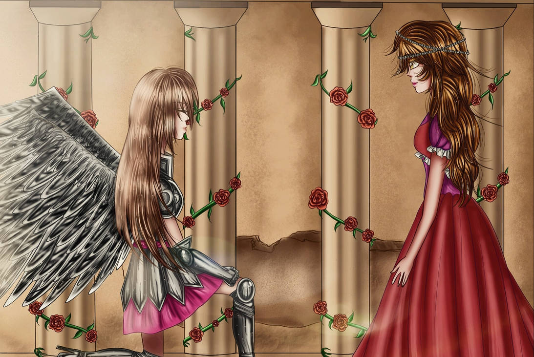 Asma and Camelia (Saint Seiya Love of Goddess) by Asma-chan
