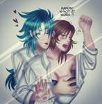 Kanon x Ai Sabouki (Saint seiya Love of Goddess) by Asma-chan