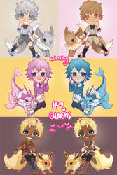 eeveelution charms! by weinering