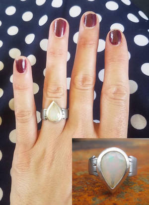 Opal Engagement Ring by copperrein