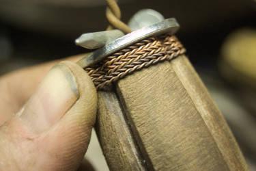 1771 Cavalry Sword handle-wrap progress by copperrein