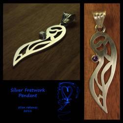 Silver Fretwork Pendant by stian-c