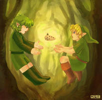 Link and Saria by Jujulica