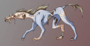 Rotten Ghosthound by NessaSan