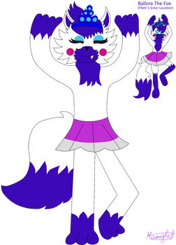 Ballora The Fox [FNAFSL + FNAM Sister Location 2] by Mangled-Funtime-Fox