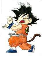 Goku - colored pencils drawing by NemanjaVeselinovic