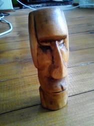 Moai - Wood Carving by NemanjaVeselinovic