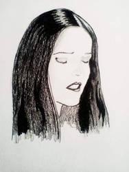 Gothic Girl - Quick Drawing by NemanjaVeselinovic
