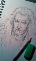 Thorin's portrait sketch by IrbisN