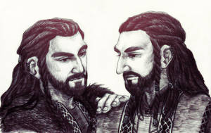 Thorin and Frerin by IrbisN