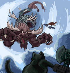 Against the Moose Dragon by GeneRoberts