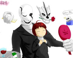 undertale : gaster and frisk by ch0702ch