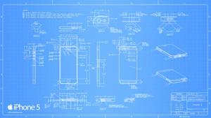 iPhone 5 Blueprint - 2560x1440 by Regivic