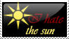 I hate the sun stamp by darkemyst