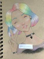 Rainbow Hair by lovenomous