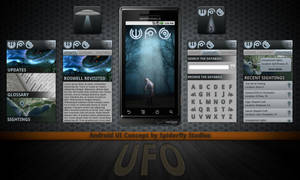 UFO for Android - UI Concept by kahil
