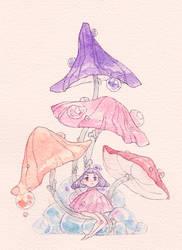 Under the Mushrooms by Potatart