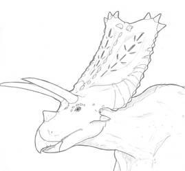 Pentaceratops portrait by hyphenatedsuperhero