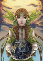 Goddess Gaia by Blue--Rosa