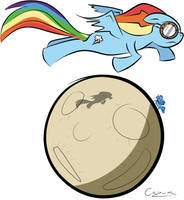 And the Pone jumped over the moon by MrCazum